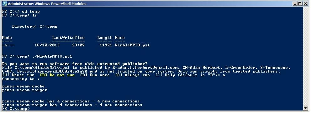 iSCSI-MPIO-4 Windows 2008 R2 - Enhancing the Nimble iSCSI Connection with MPIO