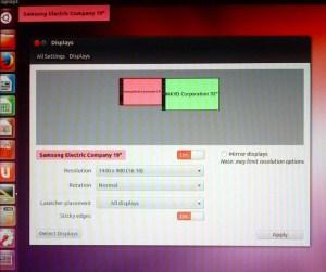 Ubuntu Dual Displays