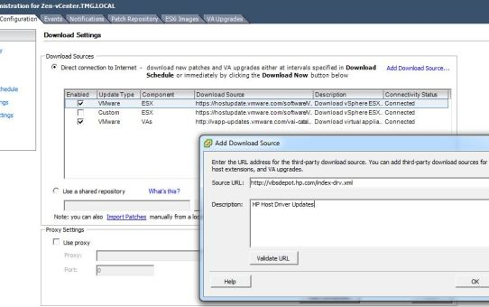 Adding-HP-ESX-Update-URL Update Manager Disabled in vSphere after 5.5 Update