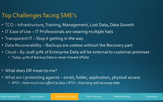 Slide11 VeeamOn 2015 Review - Part 2