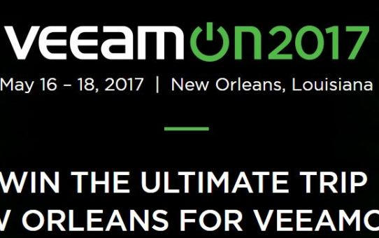 VeeamOn-2017 Win an Trip To New Orleans VeeamOn 2017