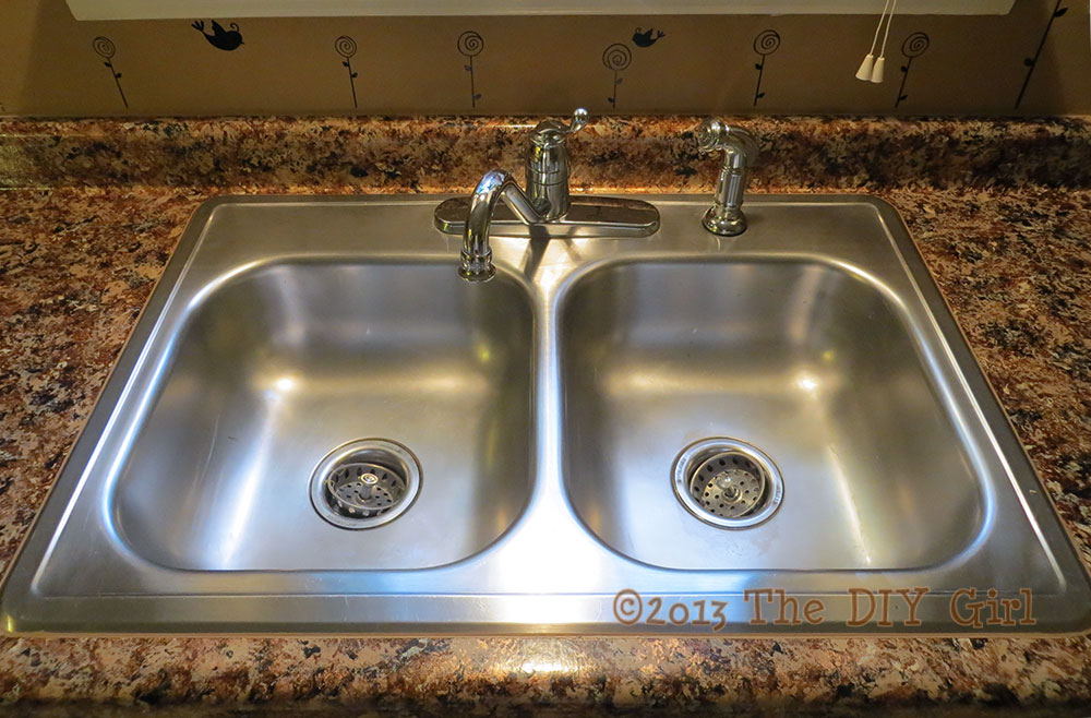 Cleaning Stainless Steel Sink With Bar Keepers Friend And Magic Erase   The  DIY Girl