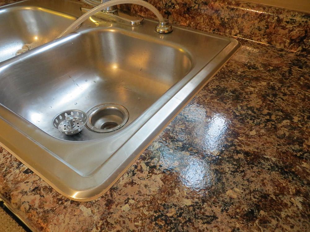 Caulking Sink After Giani Granite Paint The Diy Girl