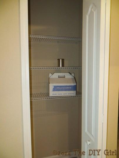 Improving pantry shelves - TheDIYGirl.com