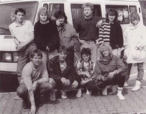 Ein hartes Team - die Teilnehmer der Jugendfreizeit 1988 in Schweden