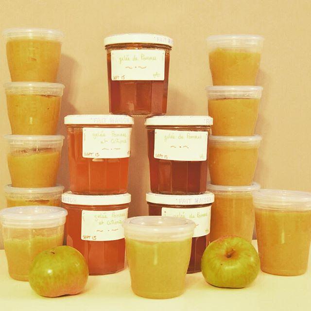 Compote de pommes ou pommes citrons
