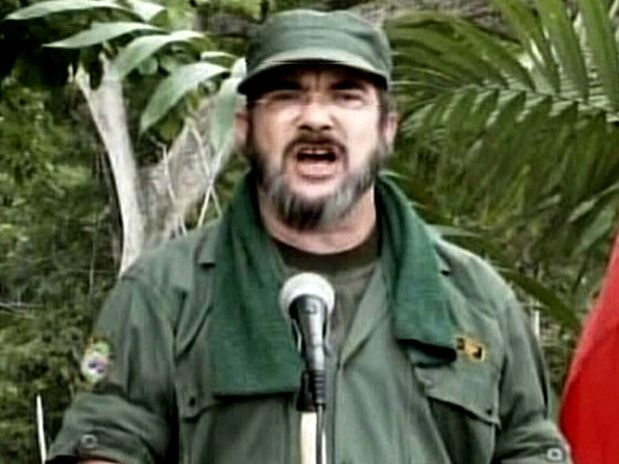 Timochenko, el alias del máximo jefe de las FARC. Un jefe de guerrillas que se dice emocionado por la paz