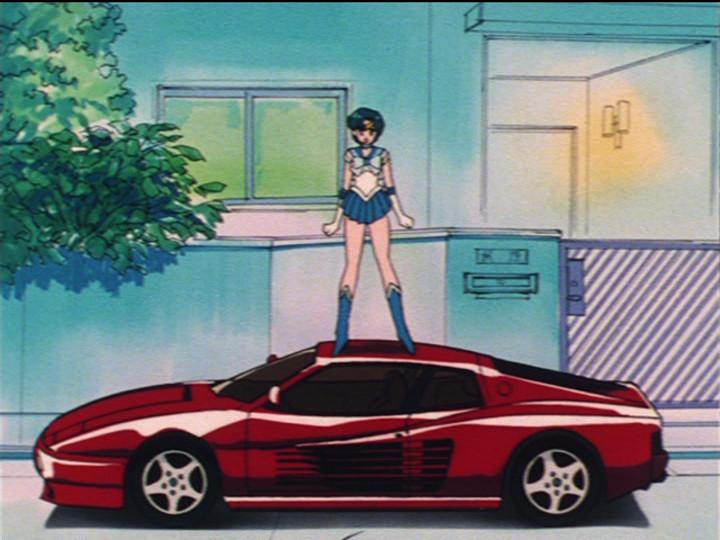 Sailor Mercury has no respect for cars