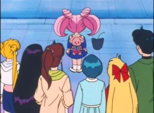 ChibiUsa gets ready to leave