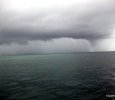 minous storm coming our way - fortunately we were going underwater and it stopped raining by the time we surfaced