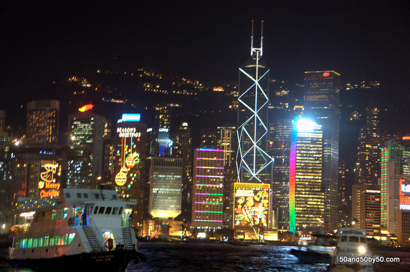 Photo of Hong Kong's skyline from the harbor (Tsim Sha Tsui East Prominade)
