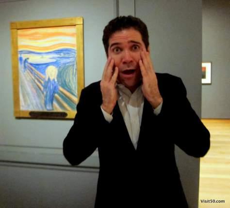 Munch's The Scream at New York's MoMA (Museum of Modern Art)
