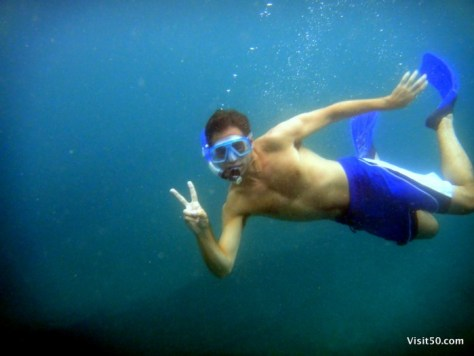 it's me! snorkeling off the coast of Malapascua Island, Philippines