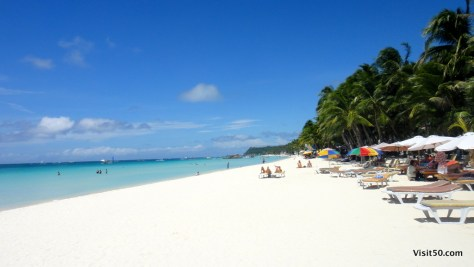 Boracay too touristy and overcrowded? No way! This is a 1pm in the afternoon