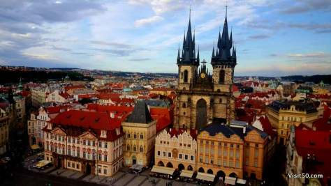 Prague has fairytale architecture