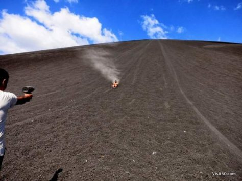 "introducing...Volcano Boarding! CNN named Volcano Boarding as #2 in the world on the ""Thrill seekers bucket list: 50 things to do before you die"""