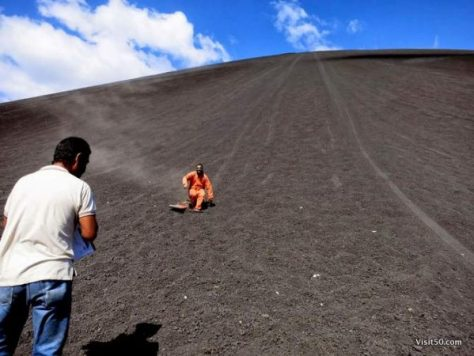 right after my first time volcano boarding! That was awesome!