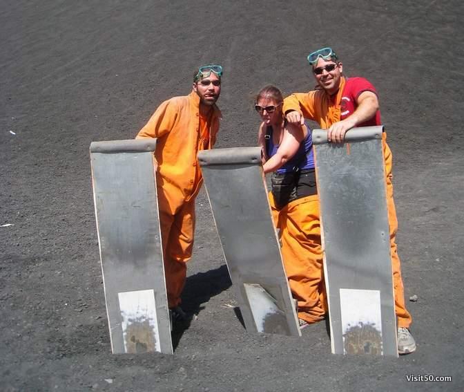 We lived! We survived volcano boarding. Woohoo!