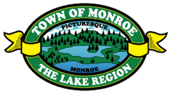"Home of the Monroe Classic. Logo of the Town of Monroe, NY; known as ""Picturesque Monroe"", a part of NY's ""Lake Region"""