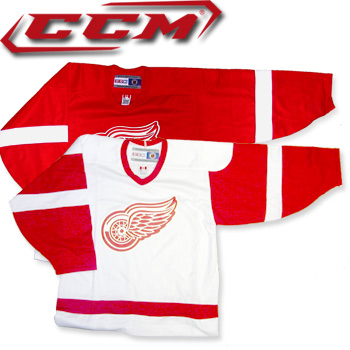 the best attitude e9f3d 12a67 CCM 4100 Detroit Red Wings Jerseys-SR · The World Table Hockey Association,  Inc.