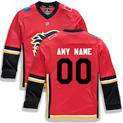 Calgary Flames Fanatics Branded Youth Home Replica Custom Jersey - Red