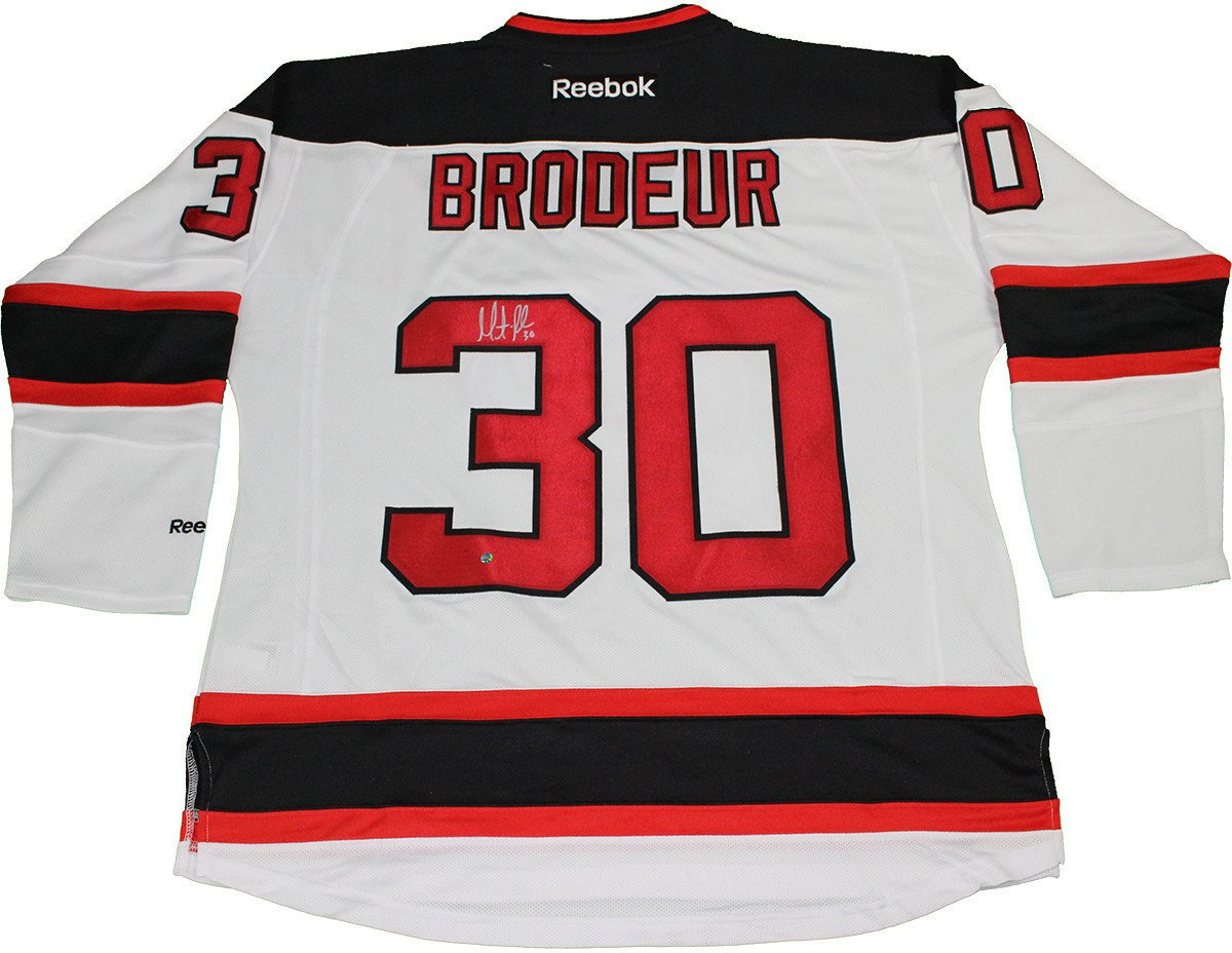 best cheap a3587 a0218 Martin Brodeur Signed Reebok Premier New Jersey Devils White Jersey · The  World Table Hockey Association, Inc.