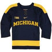 Michigan Wolverines Nike Youth Hockey Jersey - Navy