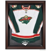 Minnesota Wild Fanatics Authentic Brown Framed Logo Jersey Display Case