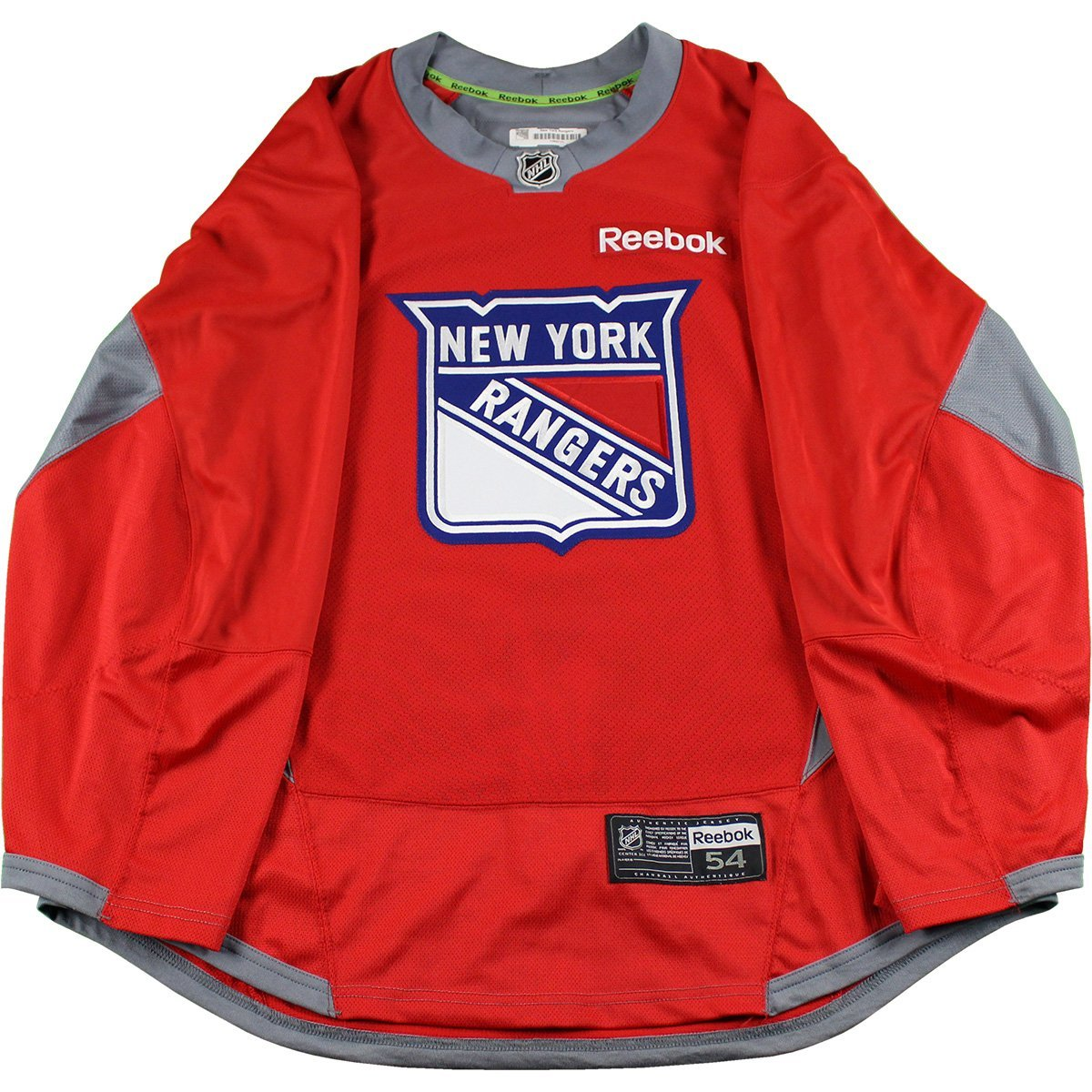 6082d6853 New York Rangers Red Used Shield Logo Practice Jersey (Size 54 ...