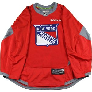 New York Rangers Red Used Shield Logo Practice Jersey (Size 54)