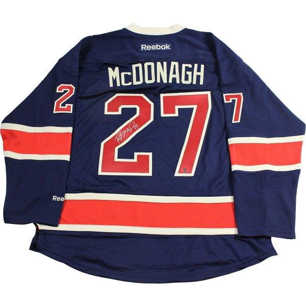 new concept fe679 03de9 Ryan McDonagh Signed New York Rangers Navy Heritage Jersey