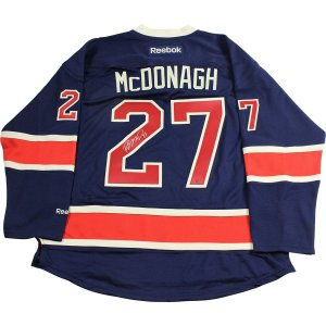 Ryan McDonagh Signed New York Rangers Navy Heritage Jersey