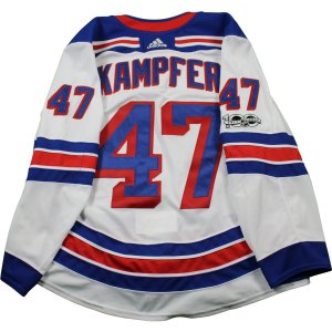 Steven Kampfer New York Rangers 2017-2018 Game Used #47 Set 1 White Jersey w/ 100th Anniversary Patch (10/7/2017 - 11/22/2017)