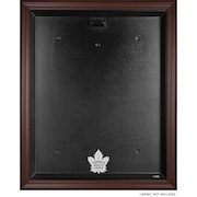 Toronto Maple Leafs (2016-Present) Brown Framed Logo Jersey Display Case