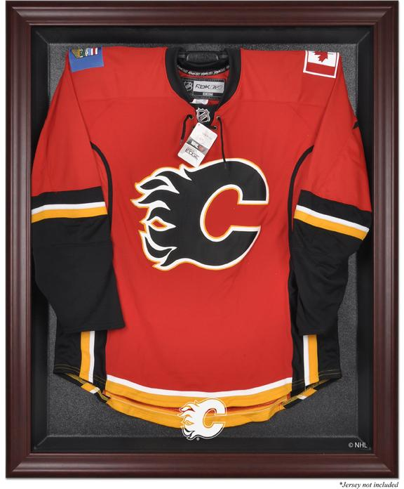 Calgary Flames Mahogany Jersey Display Case