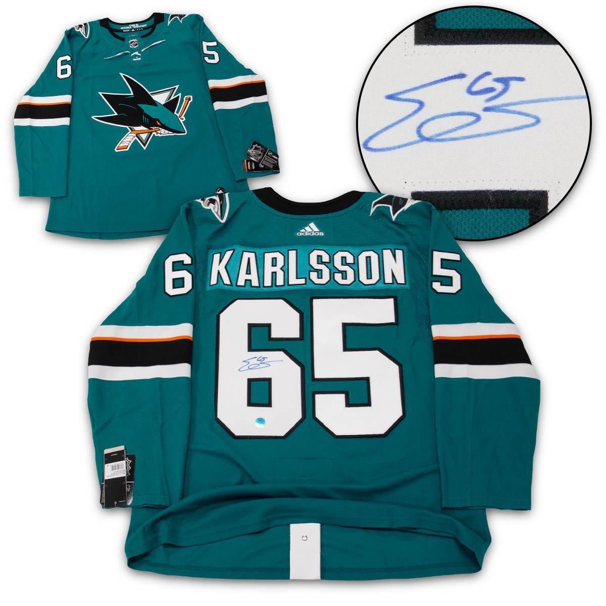 98856daf56c Erik Karlsson Signed Jersey - San Jose Sharks Adidas · The World ...