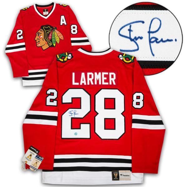 Steve Larmer Signed Jersey - Retro Fanatics