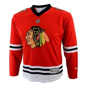Chicago Blackhawks Blank Red NHL Youth Reebok Home Replica Jersey