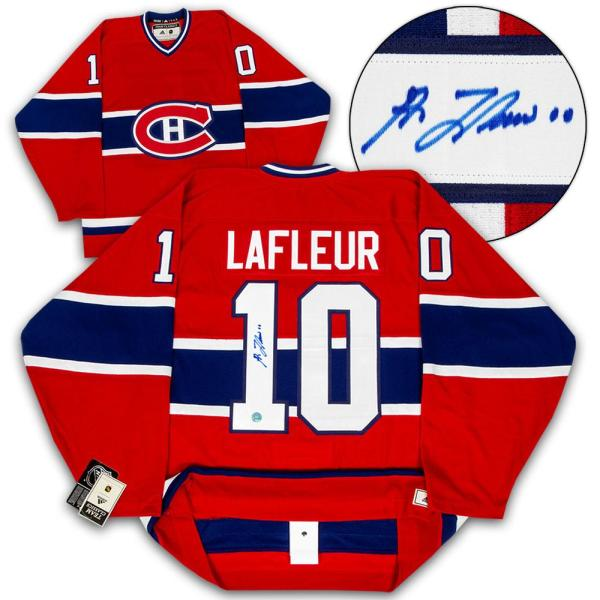 buy popular 003fa a5dcb Guy Lafleur Signed Jersey - Adidas Vintage