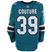 new style fb367 26f50 Logan Couture San Jose Sharks Fanatics Authentic Game-Used  39 Teal Jersey  with All