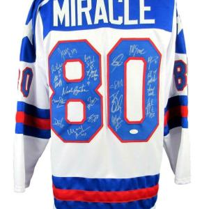 1980 Miracle on Ice Team USA Olympic Hockey Jersey Signed by 20 135743 - JSA Certified