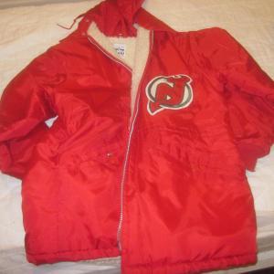 1985/1987 NHL Hockey New Jersey Devils Game Used Jacket Peter McNab