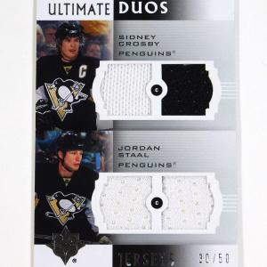 2007-08 Ultimate Collection Sidney Crosby / Staal Ultimate Duos Quad Jersey /50