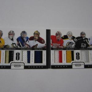2011-12 Panini Dominion Crazy Eight's Jersey PATCH Book FLEURY / LUNDQVIST 9/10