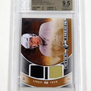 2011-12 SPx Sidney Crosby Winning Materials Dual Jersey BGS 9.5