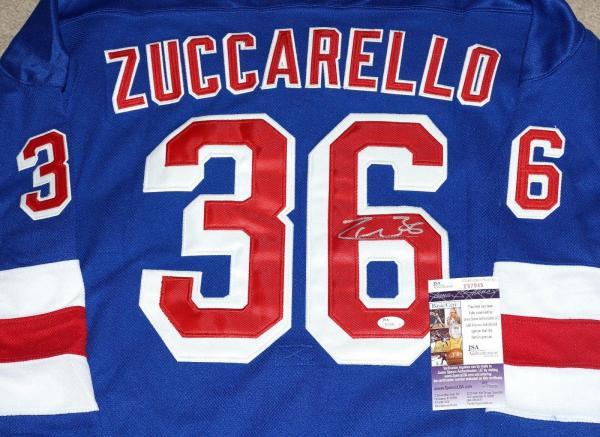 huge discount 7d4d2 360e6 Mats Zuccarello Signed Jersey - #36 NY + JSA COA #T67945