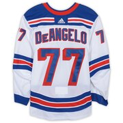 Tony Deangelo New York Rangers Fanatics Authentic Game-Used #77 White Set 2 Jersey from the 2018-19 NHL Season - Size 56