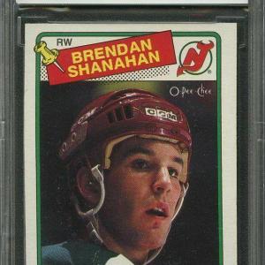 1988-89 o-pee-chee #122 BRENDAN SHANAHAN new jersey devils rookie BGS BCCG 8