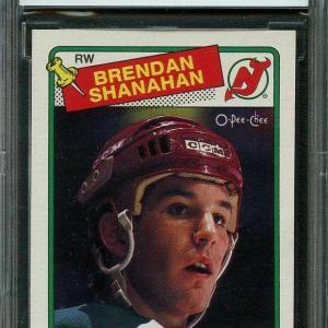 1988-89 o-pee-chee #122 BRENDAN SHANAHAN new jersey devils rookie BGS BCCG 9