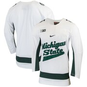 Michigan State Spartans Nike Replica College Hockey Jersey - White
